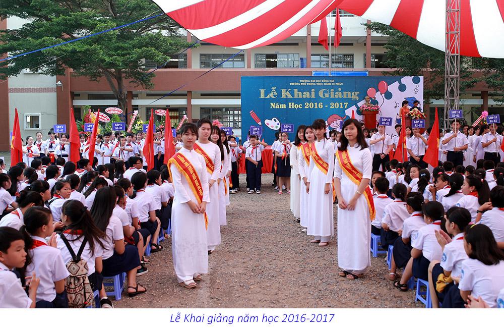 Trường Phổ thông Thực hành Sư phạm tổ chức lễ Khai giảng năm học 2016-2017